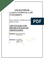Advantages and Disadvantages of Negotitation