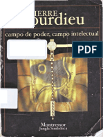 Bourdieu, Pierre - Campo de Poder, Campo Intelectual