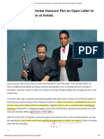Wayne Shorter & Herbie Hancock Pen an Open Letter