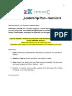 PersonalLeadershipPlan Section 3