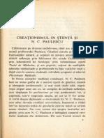 Creationismul in stiinta si N. C. Paulescu-Extras Din Destinul Ideilor 1943