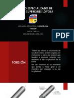 TORSIÓN, RESISTENCIA.