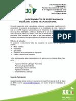 Convocatoria de Proyectos de Inv. y Exposicion de Carteles