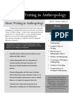 Guide for Writing in Anthropology