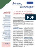 Les marchés de brevets dans l'économie de la connaissance