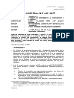 Indecopi sancionó al banco Falabella