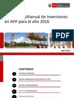 PPT Informe Multianual Inversiones APP