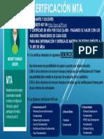 Afiche Certificación MTA Redes Sociales