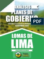 Anlisis de Planes de Gobierno Proyecto Lomas 2014