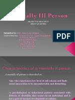 Mentally Ill Person-Ye