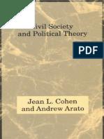 Jean L Cohen Andrew Arato Civil Society and Politi