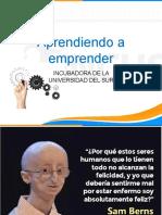 Aprendiendo a Emprender (Conferencia)