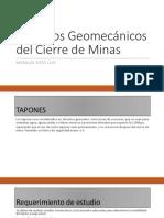 Aspectos Geomecánicos Del Cierre de Minas