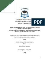 Perfil Epidemiologico de Adultos Mayores Hipertension