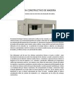 Sistema Constructivo de Madera