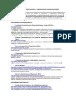 Base de Datos Para Buscar Informacion Diversa. Organismos Nacionales, Internacionales y Locales