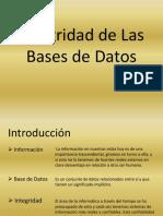 Integridad de Las Bases de Datos
