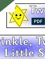 Twinkle Twinkle little star - low colour