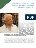 Entrevista Renato Ortiz