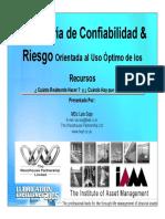 Ingeniería de Confiabilidad y Riesgo, Luis Sojo