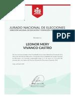 Constancia de Trabajo Leonor Vivanco