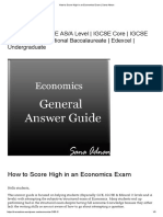How to Score High in an Economics Exam