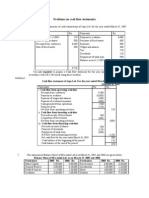 Problems on Cash Flow Statements
