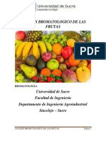 ANALISIS BROMATOLOGICO DE FRUTAS