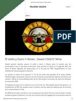 El Violín y Guns N' Roses ! _ Paloma Valeva