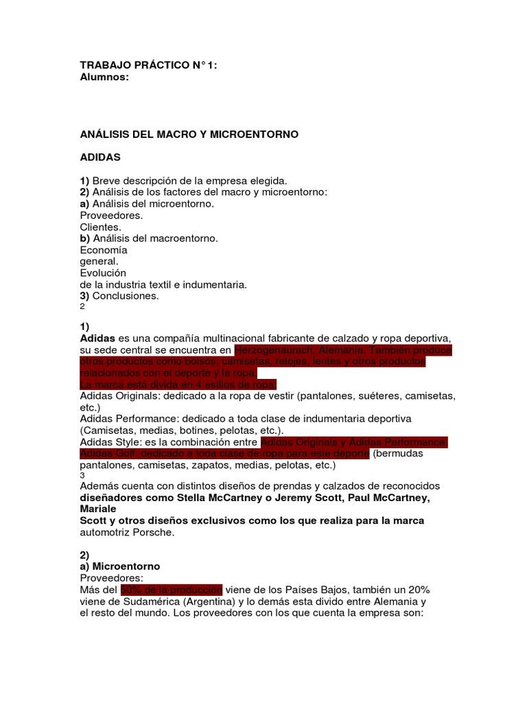 Aviación Irregularidades Alivio  Macro y Micro | Adidas | Economía (general)