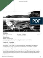 Película El Violín _ Paloma Valeva