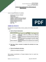 Estructura de Proyectos Vers. 005-2014