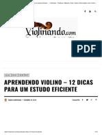 Aprendendo Violino - 12 Dicas Para Um Estudo Eficiente -