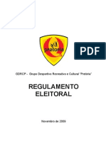 Regulamento Eleitoral - PRETORIA