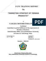 Trainign Report - Yamaha