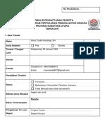 2. Formulir Pendaftaran PPAN SUMUT 2017.docx