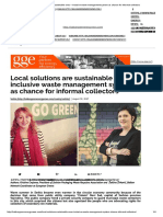 Local Solutions Are Sustainable Ones – Inclusive Waste Management System as Chance for Informal Collectors