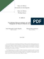 Paper Banxico - Estructura de Tasas