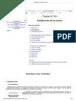 Clasificación y Tipos de Aceros