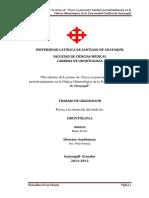 Prevalencia de Lesiones de Furca en Pacientes Tratados Periodontalmente