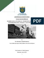 Tesisfder Regimen Legal Aplicable Al Transporte Maritimo Por Contenedores en El Uruguay y Sus Perspectivas Cerdena Barcelo Gregorio Martin