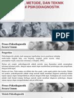 Proses, Metode, Dan Teknik Dalam Psikodiagnostik