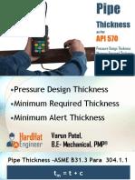 API 570 Minimum Thickness