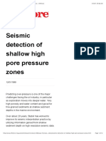 Seismic Detection of Shallow High Pore Pressure Zones - Offshore