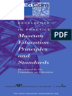 EXCELLENCE in PRACTICE - Museum Education Principles and Standards