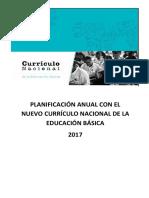 Planificación Anual Con El Currículo Nacional de La Educación Básica 2017
