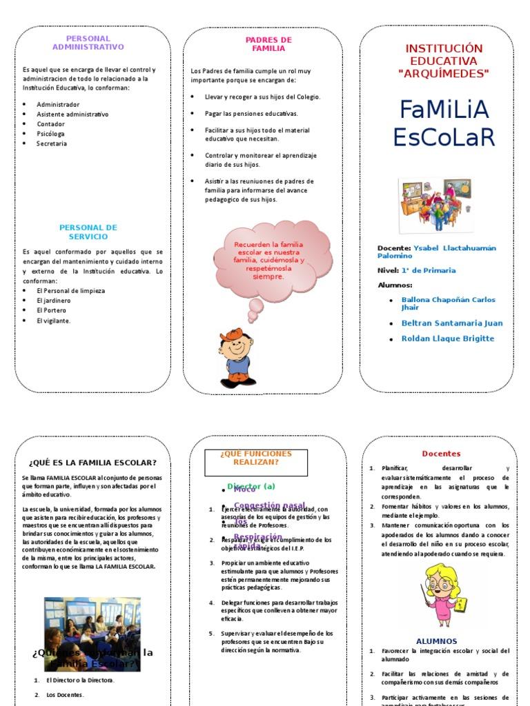 triptico familia escolar.docx   Maestros   Ciencia cognitiva