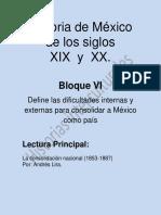 La Consolidacion Nacional (1853-1887) Andrés Lira