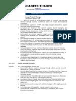 GhadeerThaher Resume 2017