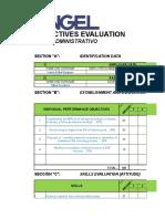 Evaluación de Objetivos Peresonal Finanzas